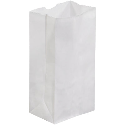 "3 1/2 x 2 3/8 x 6 7/8"" White Grocery Bags-Grocery Bags-Lamar Packaging Supplies Inc"