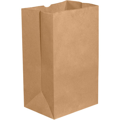 "8 1/4 x 5 15/16 x 13 3/8"" Kraft Grocery Bags-Grocery Bags-Lamar Packaging Supplies Inc"