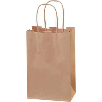 "5 1/2 x 3 1/4 x 8 3/8"" Kraft Paper Shopping Bags-Shopping Bags-Lamar Packaging Supplies Inc"