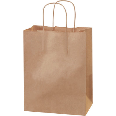"8 x 4 1/2 x 10 1/4"" Kraft Paper Shopping Bags-Shopping Bags-Lamar Packaging Supplies Inc"