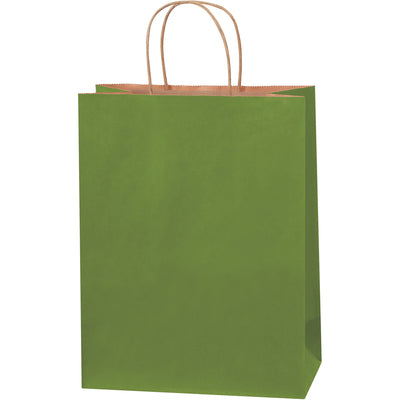 "10 x 5 x 13"" Green Tea Tinted Shopping Bags-Shopping Bags-Lamar Packaging Supplies Inc"