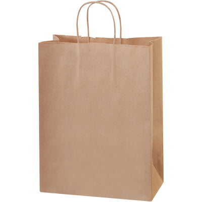 "10 x 5 x 13"" Kraft Paper Shopping Bags-Shopping Bags-Lamar Packaging Supplies Inc"