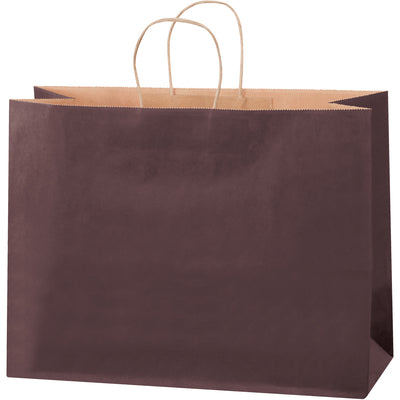 "16 x 6 x 12"" Brown Tinted Shopping Bags-Shopping Bags-Lamar Packaging Supplies Inc"
