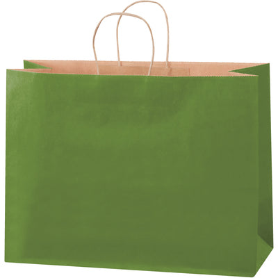 "16 x 6 x 12"" Green Tea Tinted Shopping Bags-Shopping Bags-Lamar Packaging Supplies Inc"