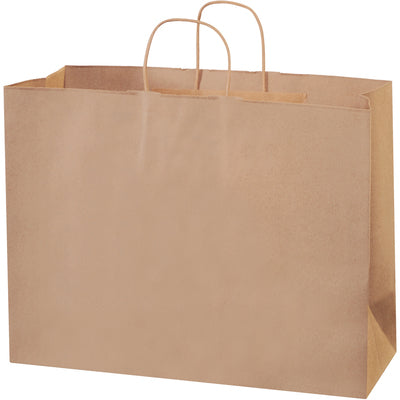 "16 x 6 x 12"" Kraft Paper Shopping Bags-Shopping Bags-Lamar Packaging Supplies Inc"