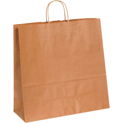 "16 x 6 x 15 3/4"" Kraft Paper Shopping Bags-Shopping Bags-Lamar Packaging Supplies Inc"