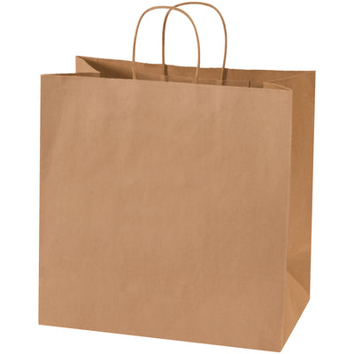 "13 x 7 x 13"" Kraft Shopping Bags-Shopping Bags-Lamar Packaging Supplies Inc"