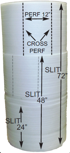 "***BEST SELLER*** 1/4"" x 24"" x 250' Individual Foam Roll NO PERF-rolls of foam-Lamar Packaging Supplies Inc"