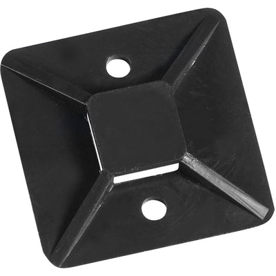 "1 x 1"" Black Cable Tie Mounts-Lamar Packaging Supplies Inc"