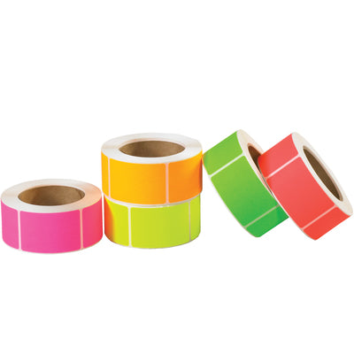 Blank Inventory Circle & Rectangle Labels PACK - 5,000/pack-Lamar Packaging Supplies Inc