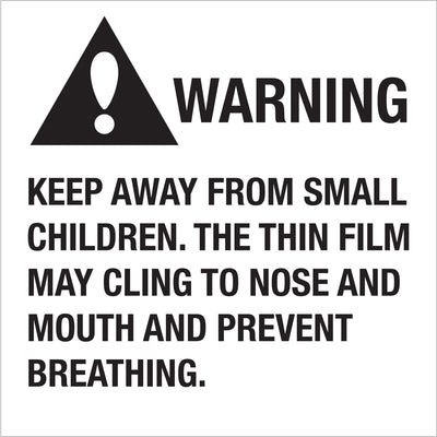 Suffocation Warning Labels - 500/roll-Lamar Packaging Supplies Inc