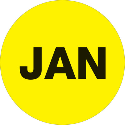 Months of the Year Circle Labels - 500/roll-Lamar Packaging Supplies Inc