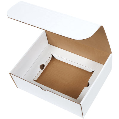 "11 1/8 x 8 3/4 x 4"" White DVD Literature Mailer Kit-Lamar Packaging Supplies Inc"