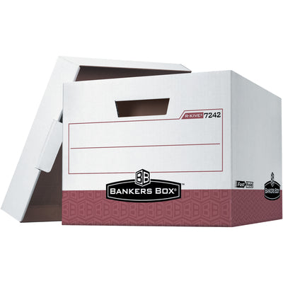 R-KIVE Heavy Duty File Storage Boxes with Lids - 12/case-Lamar Packaging Supplies Inc