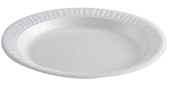 "10 1/4"" Foam Dinner Plate-Lamar Packaging Supplies Inc"