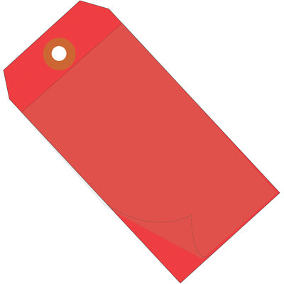 "6 1/4 x 3 1/8"" Red Self-Laminating Tags-Lamar Packaging Supplies Inc"