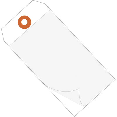"6 1/4 x 3 1/8"" White Self-Laminating Tags-Lamar Packaging Supplies Inc"