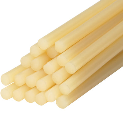 "1/2 x 15"" - Light Amber Glue Sticks (25#)-Lamar Packaging Supplies Inc"