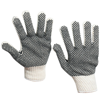 PVC Black Dot Knit Gloves - 12pairs/case-Lamar Packaging Supplies Inc