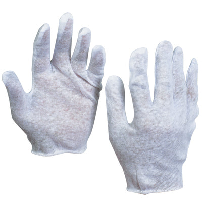 Cotton Inspection Gloves 2.5 oz. - 12pairs/box-Lamar Packaging Supplies Inc