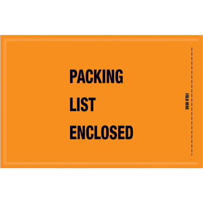 "5-1/4"" x 8"" - Mil-Spec ""Packing List Enclosed"" Envelopes - 1,000 per case-Lamar Packaging Supplies Inc"