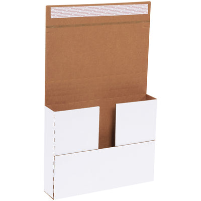 "11 1/8 x 8 5/8 x 2"" White DELUXE Easy-Fold Mailers - 25/per bdl-Lamar Packaging Supplies Inc"