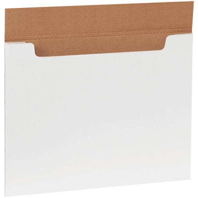 White Jumbo Fold-Over Mailers 20/per bdl-White Fold-Over Mailers-Lamar Packaging Supplies Inc