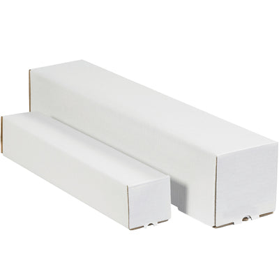 White Square Mailing Tubes (Price Per Bundle)-Lamar Packaging Supplies Inc