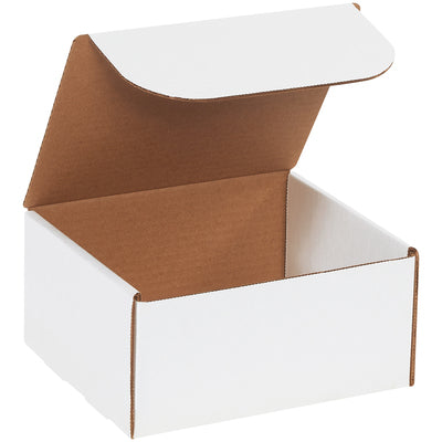 "WHITE - 4"" x 4"" x 4"" - thru - 8"" x 8"" x 4""- Literature Mailers - 50/bundle-Lamar Packaging Supplies Inc"