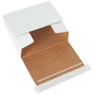 "5 3/4 x 5 1/16 x 1 3/4"" White Self-Seal CD Mailers-Lamar Packaging Supplies Inc"