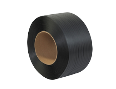 "3/8"" x 300# 8x8 Black Machine Grade Poly Strapping-Lamar Packaging Supplies Inc"