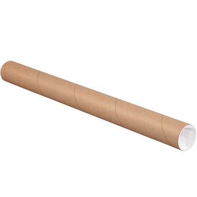 "2 x 15"" (6 Pack) Kraft Tubes with Caps-Lamar Packaging Supplies Inc"