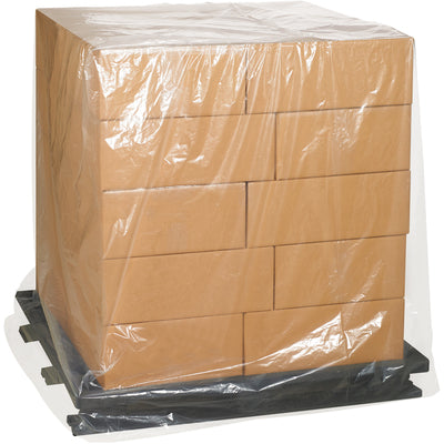 "42"" x 32"" x 54"" thru 48"" x 46"" x 96"" - 4 Mil Clear Gaylord Liner - Pallet Covers-Gaylord Liner, Gaylord Bag-Lamar Packaging Supplies Inc"