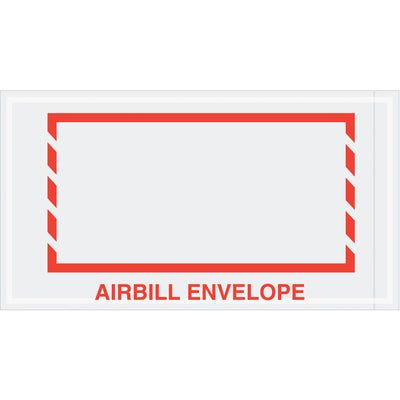 "5-1/2 x 10"" Red Border ""Airbill Envelope"" Document Envelopes - 1,000 per case-packing list envelope transportation-Lamar Packaging Supplies Inc"