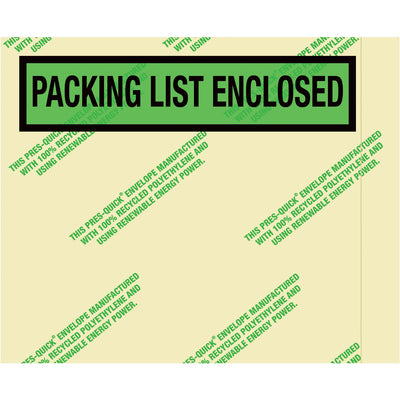 "4-1/2"" x 5-1/2"" Environmental ""Packing List Enclosed"" Envelopes - 1,000 per case-packing list envelope-Lamar Packaging Supplies Inc"