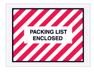 """Packing List Enclosed"" (FULL Face) Envelopes (2 colors available) - 1,000 per case-Lamar Packaging Supplies Inc"