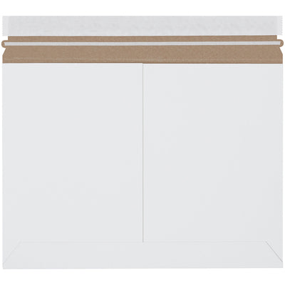 "12 1/4 x 9 3/4"" White Side Loading Flat Mailers-Lamar Packaging Supplies Inc"