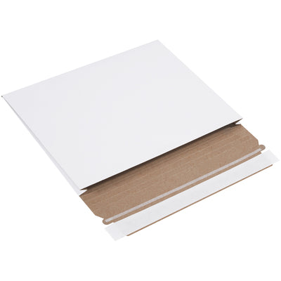 "10 x 7 3/4 x 1"" White Gusseted Flat Mailers-Lamar Packaging Supplies Inc"