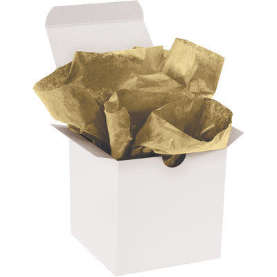 "20"" x 30"" Metallic Gold Gift Grade Tissue Paper-Lamar Packaging Supplies Inc"