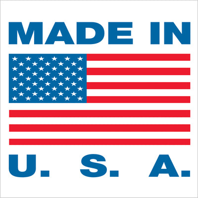 Made in U.S.A. Labels - 500/roll-Lamar Packaging Supplies Inc