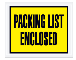 """Packing List Enclosed"" (FULL Face) Envelopes - (5 colors available) - 1,000 per case-Lamar Packaging Supplies Inc"