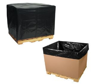 3 Mil Black Pallet Covers & Bin Liners-Gaylord Liner, Gaylord Bag-Lamar Packaging Supplies Inc