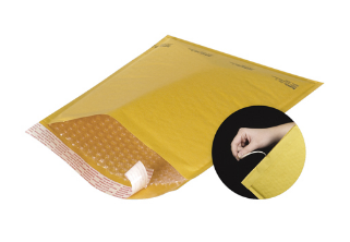 Kraft Self-Seal Bubble Mailers w/TEAR STRIP FULL CASE-self seal bubble mailer kraft-Lamar Packaging Supplies Inc