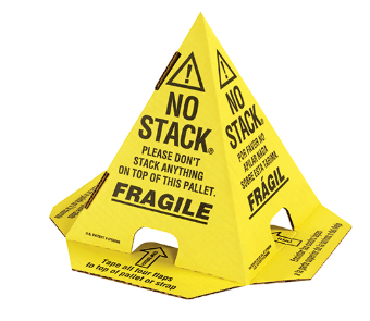 Yellow with Black Pallet Cones - 50/case-Lamar Packaging Supplies Inc