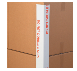 "3 x 3 x 48"" .160 Do Not Double Stack Edge-.225 edge protector-Lamar Packaging Supplies Inc"