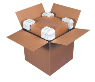 "4-7/8 x 4 x 3-1/4"" Foam Corners - 320/case-Lamar Packaging Supplies Inc"