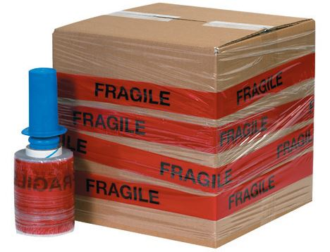 "5"" x 80 Gauge x 500' ""FRAGILE"" Goodwrappers® Identi-Wrap - 6rls/cs - $13.00/roll-Identi-Wrap-Lamar Packaging Supplies Inc"