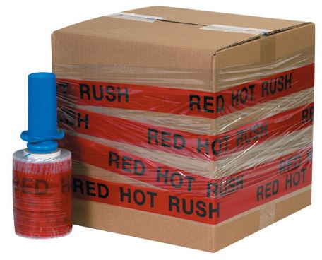 "5"" x 80 Gauge x 500' ""RED HOT RUSH"" Goodwrappers® Identi-Wrap - 6rls/cs - $13.00/roll-Identi-Wrap-Lamar Packaging Supplies Inc"