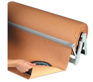 "18"" x 60# Indented Kraft Paper Rolls-indented kraft paper-Lamar Packaging Supplies Inc"