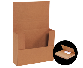 "KRAFT - 7-1/2"" x 5-1/2"" - thru - 10-1/4"" x 10-1/4"" Easy-Fold Mailers - 50/bundle-Lamar Packaging Supplies Inc"